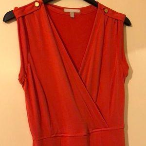 Orange V Dress